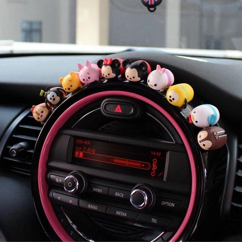 Mini Cooper Dashboard Cute Micky Minnie Silicone Small Figures Car ...