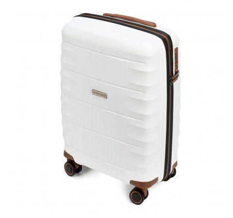 98ab723dc31be Mała walizka podróżna na kółkach ( 55x39x20 cm ), z polipropylenu | WITTCHEN  | 56