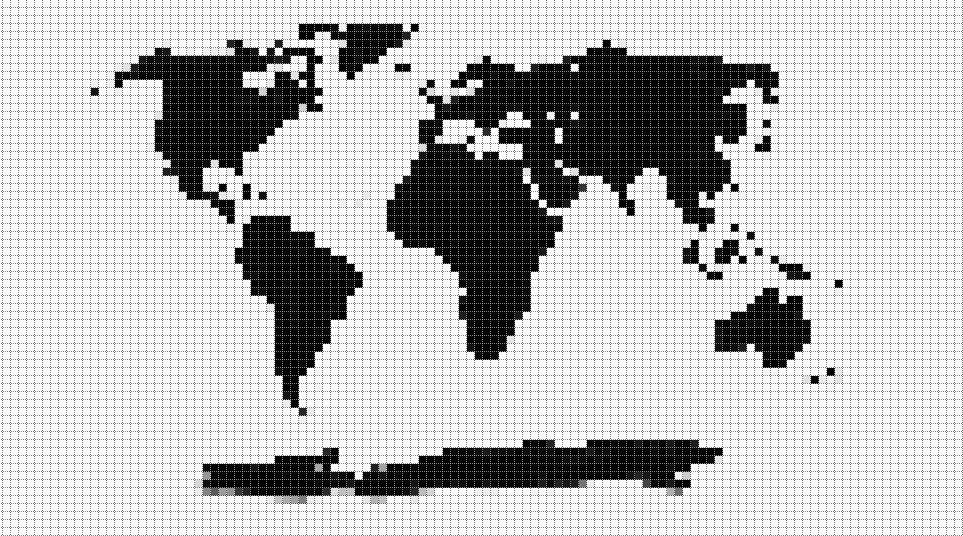 Punto de cruz en decoración + Patrón mapamundi | nurcan | Pinterest ...