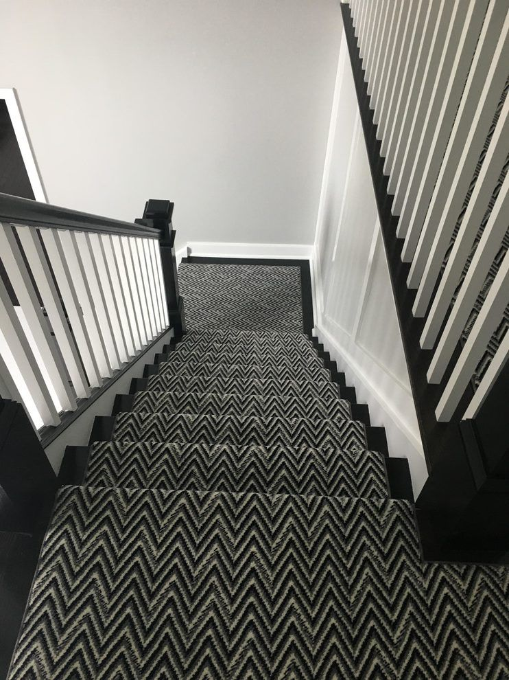 Best Image Result For Black And White Stairs With Carpet Runner 640 x 480