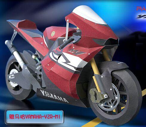 Yamaha Yamaha Motorcycle Yzr M1 Paper Model Free Paper Models