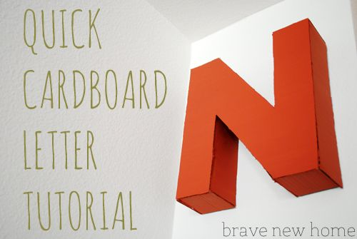 How To Make A Letter A Quick Tutorial On How To Make Letters Out Of Cardboard Crafts .