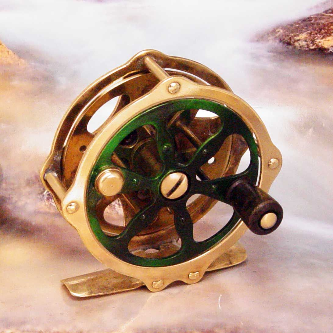 Vintage 1920s Winchester Unmarked 1235 2 7 8 Brass Skeleton Reel Customized Bamboo Fly Rod Vintage Fly Fishing Gifts