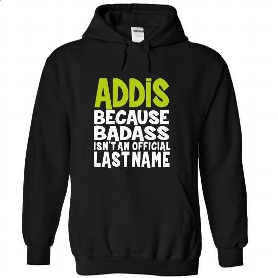 (BadAss) ADDIS - #chambray shirt #tshirt necklace. SIMILAR ITEMS => https://www.sunfrog.com/Names/BadAss-ADDIS-besosgnmit-Black-44616236-Hoodie.html?68278