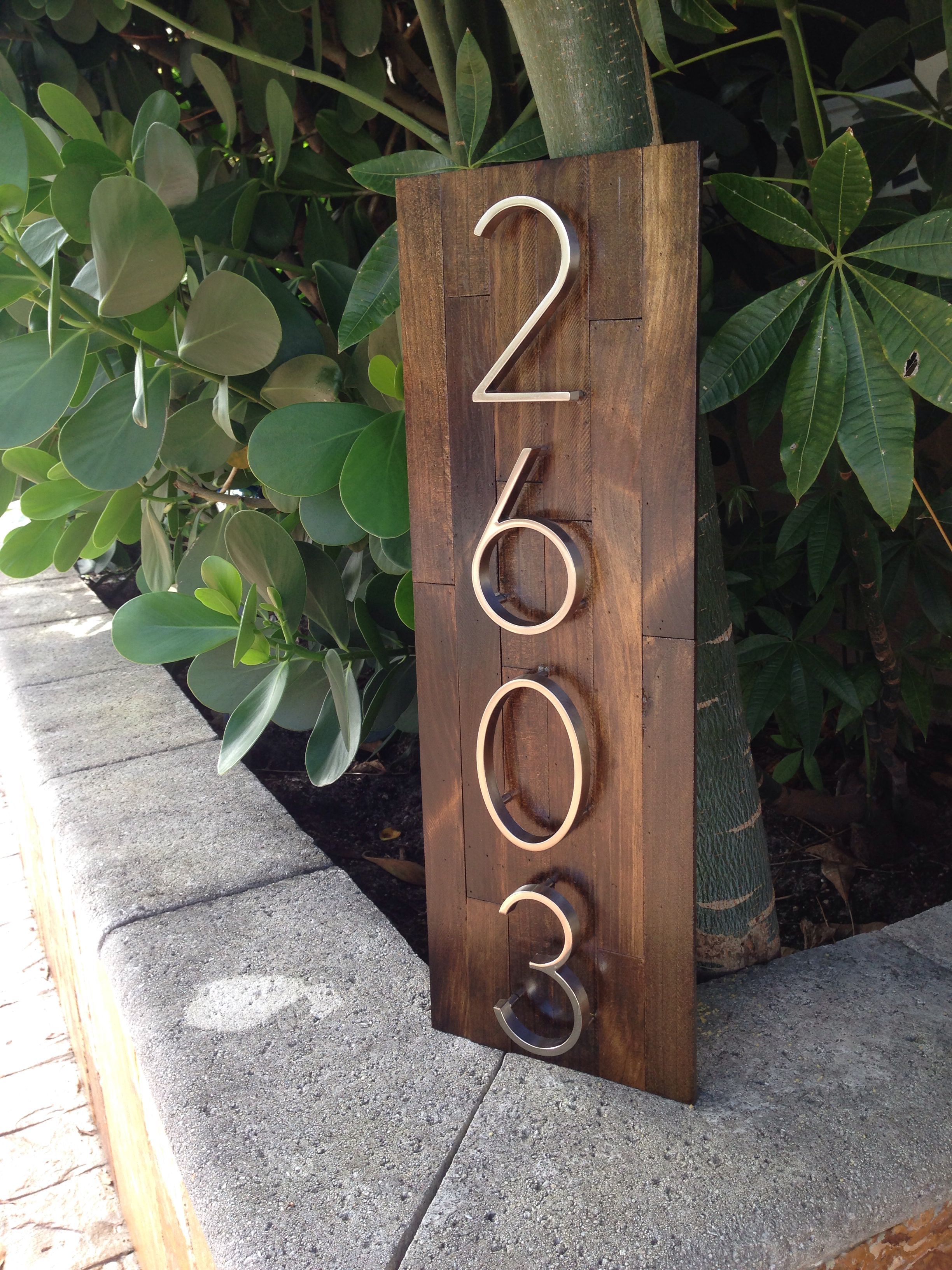 On the way to Texas! Reclaimed wood address plaques. Mmwoodwrks@gmail.com