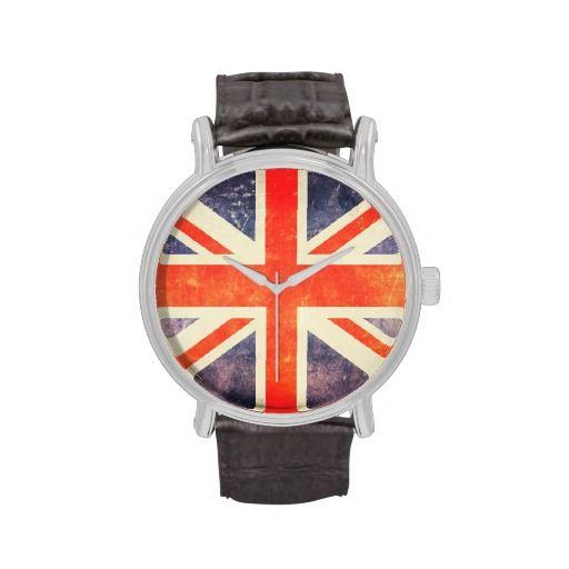 Vintage Union Jack flag Wrist Watch