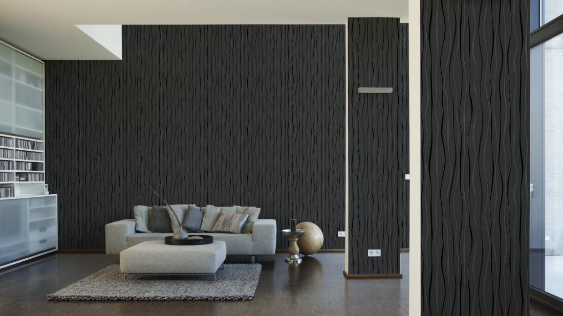 Tapete Modern Elegant Wohnzimmer. die besten 25+ schwarze tapete ...