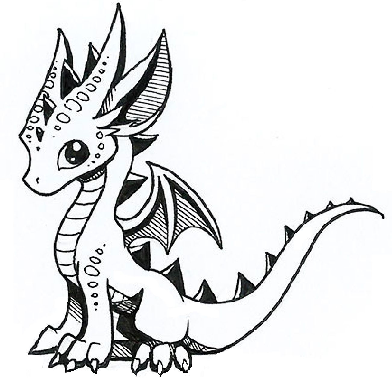 Image of: Drawing Tutorial Cute Little Dragon Pinterest Cute Little Dragon Drawing Dragon Cute Dragon Drawing