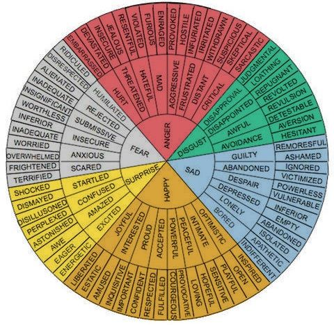 Emotion wheel for writers   Writing tools Writing words ...