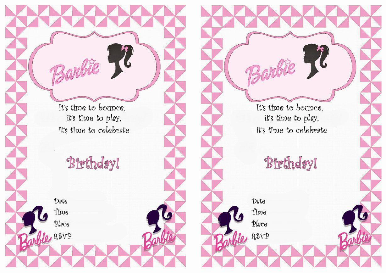 barbie free printable birthday party