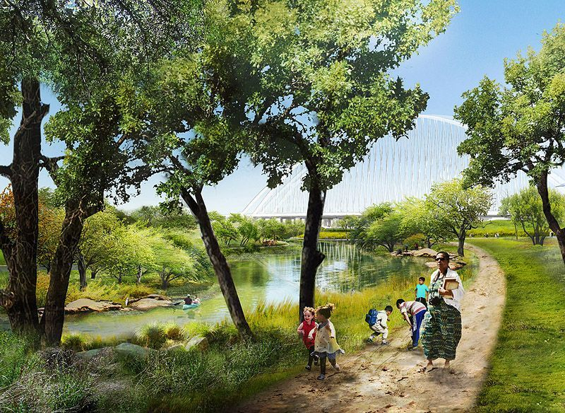Trinityriverpark Dallas 3 Jpg 838x0 Q80 Jpg 800 584 With Images Urban Park Park Riverside Park