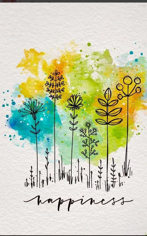 Learn To Incorporate Watercoloring Into Your Floral Drawings Using