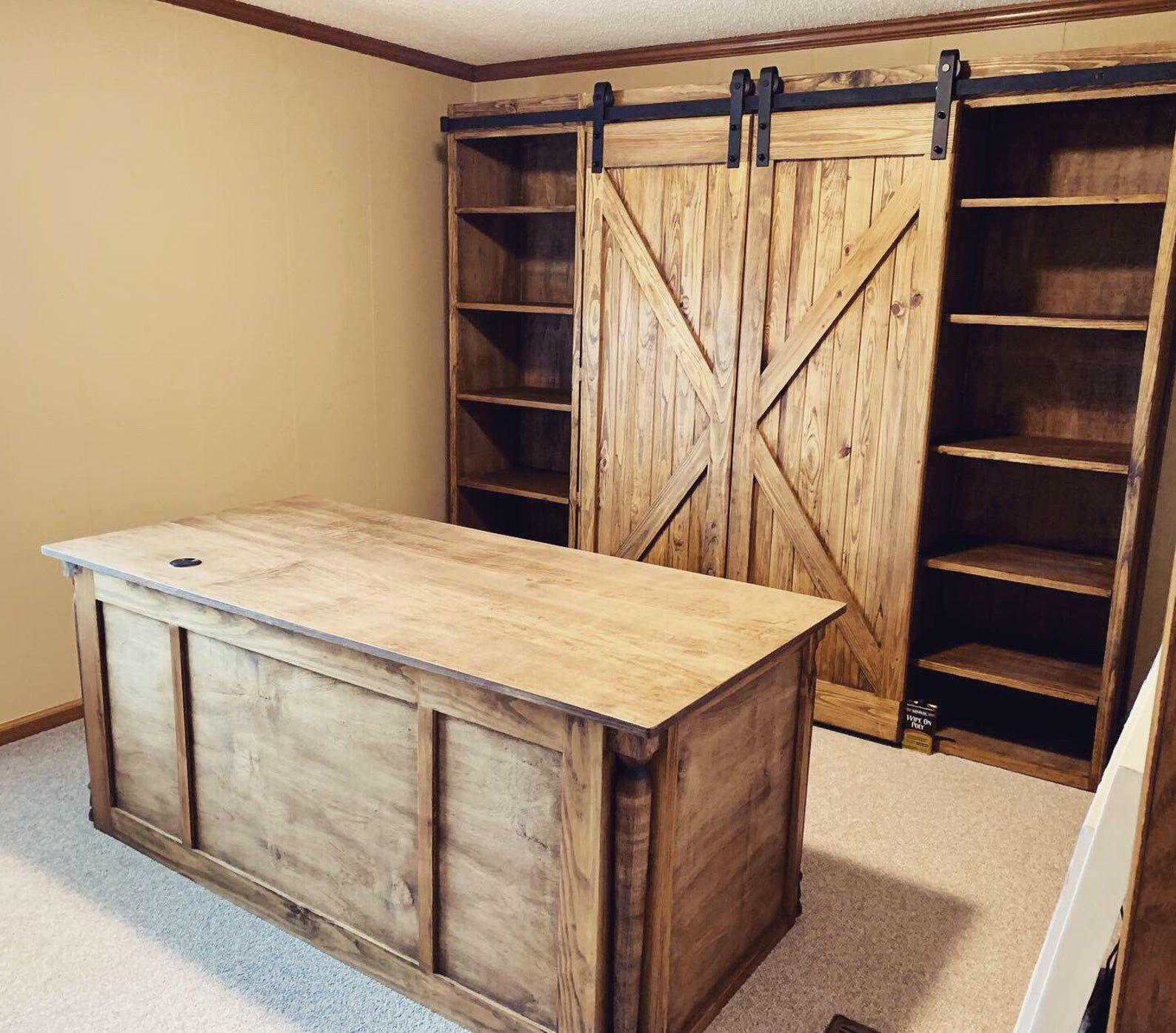 Barn Door Bookshelves / Bookcase / Office / Custom