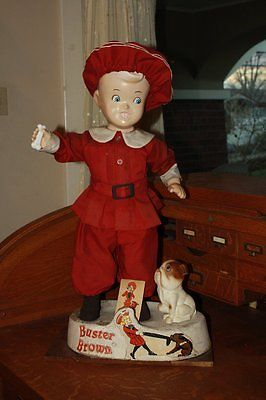 Antique Buster Brown, Tige Mannequin Store Display and Comic Book in Poor Cond.