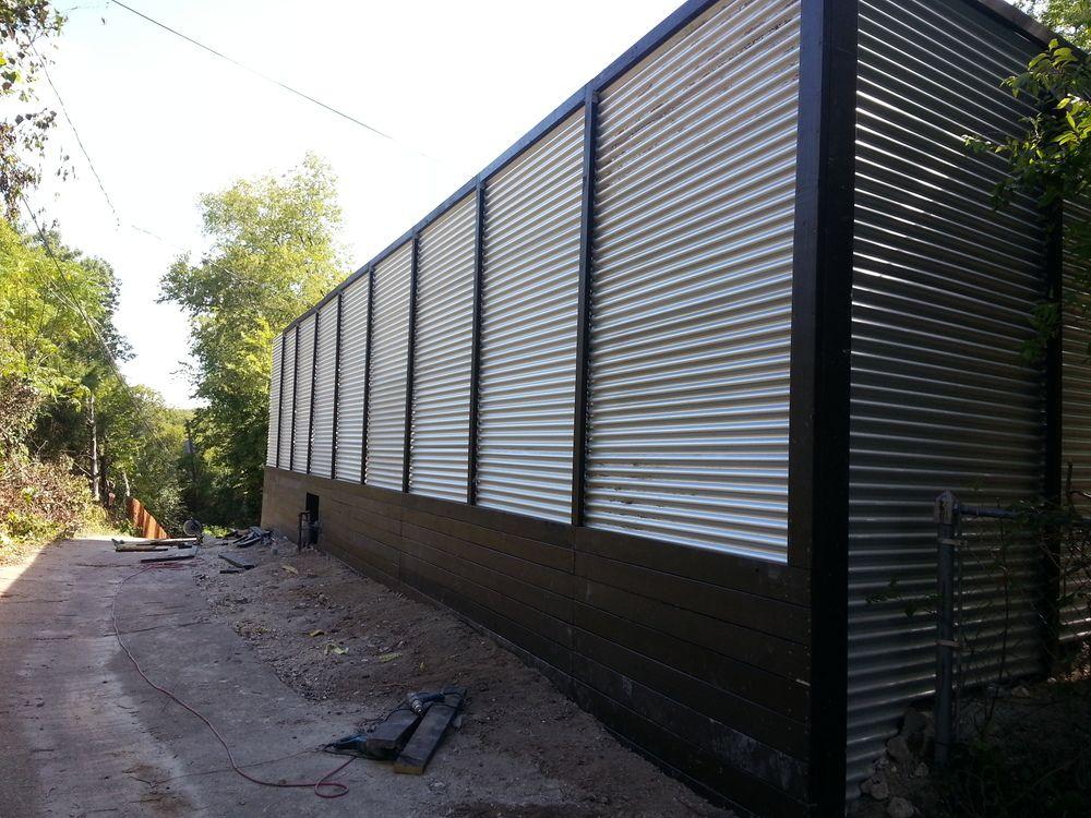 Horizontal Fence Ideas Corrugated Metal