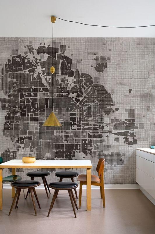 Map Wallpaper By Wall And Deco See More At Goo Gl Zqx2qh Interior