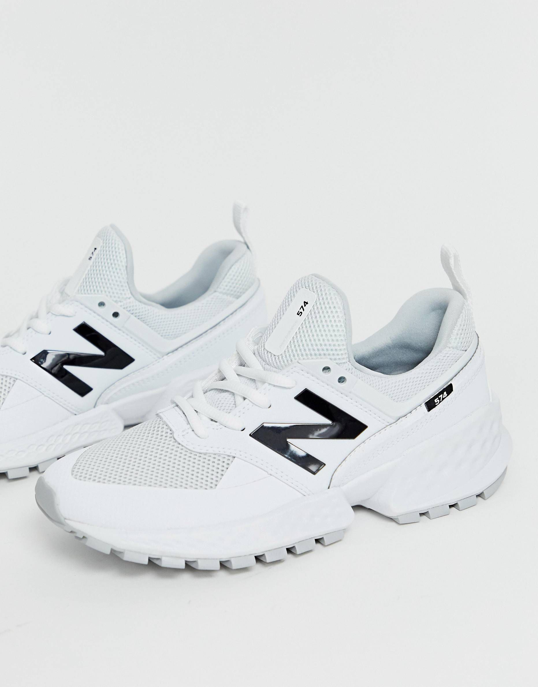 c33af237b591b New Balance 574 Sport V2 Triple White Sneakers in 2019   2019 spring ...