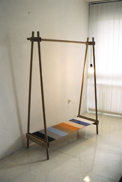 diy clothing rack designed by ana kra, ksilofon is a clothing rack made in  wood