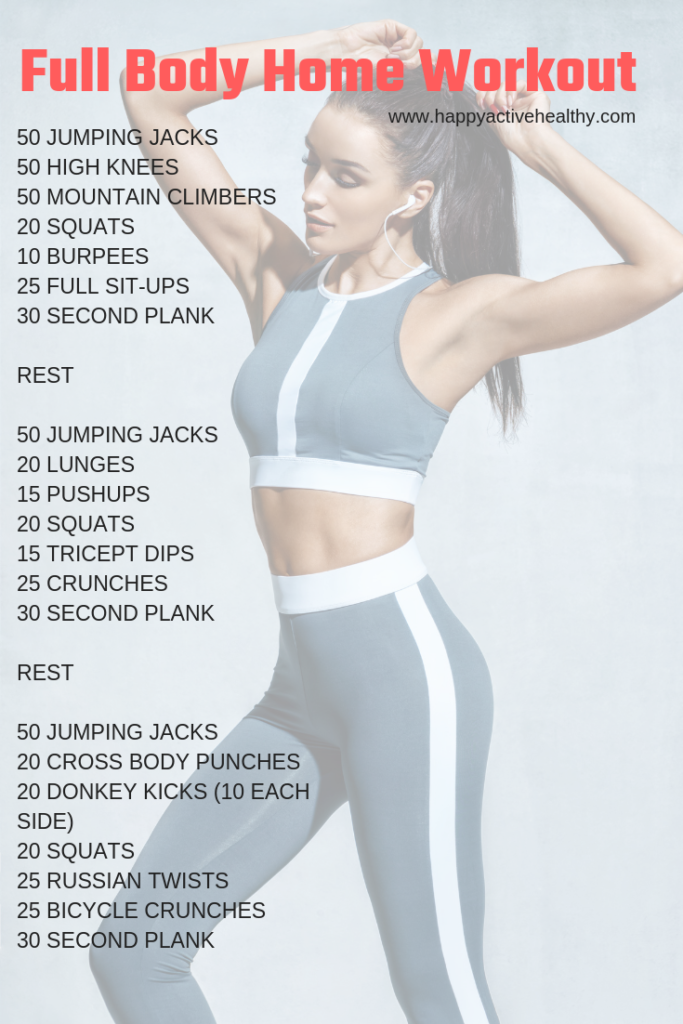 Get a full body workout at home. These are perfect 30 day fitness challenges. For women and men, even if you're a beginner. You can do these with or without weights, they require no equipment. If your goal is weight loss, getting tone, building muscle, or staying fit, these are great workouts. Awesome full body workout routine, quick and easy, and great for fat burning. Get a great body in 30 days. #fullbodyworkout #athome #30daychallenge #fitnesschallenge #weightloss #fullbodyworkoutforwomen #quickfitness