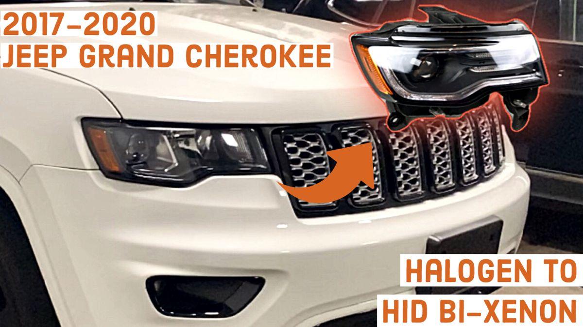 2017 2020 Jeep Grand Cherokee Led Hid Headlight Swap Youtube In 2020 Jeep Grand Cherokee Jeep Grand Srt Jeep