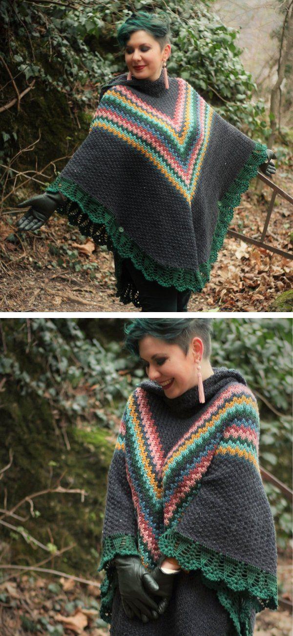 Fun Hooded Ponchos   Crochet patterns, Crochet, Poncho ...