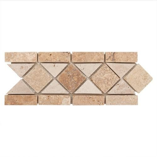 Saga Decorative Travertine Border Sku 932258412 Size 5in X 12in