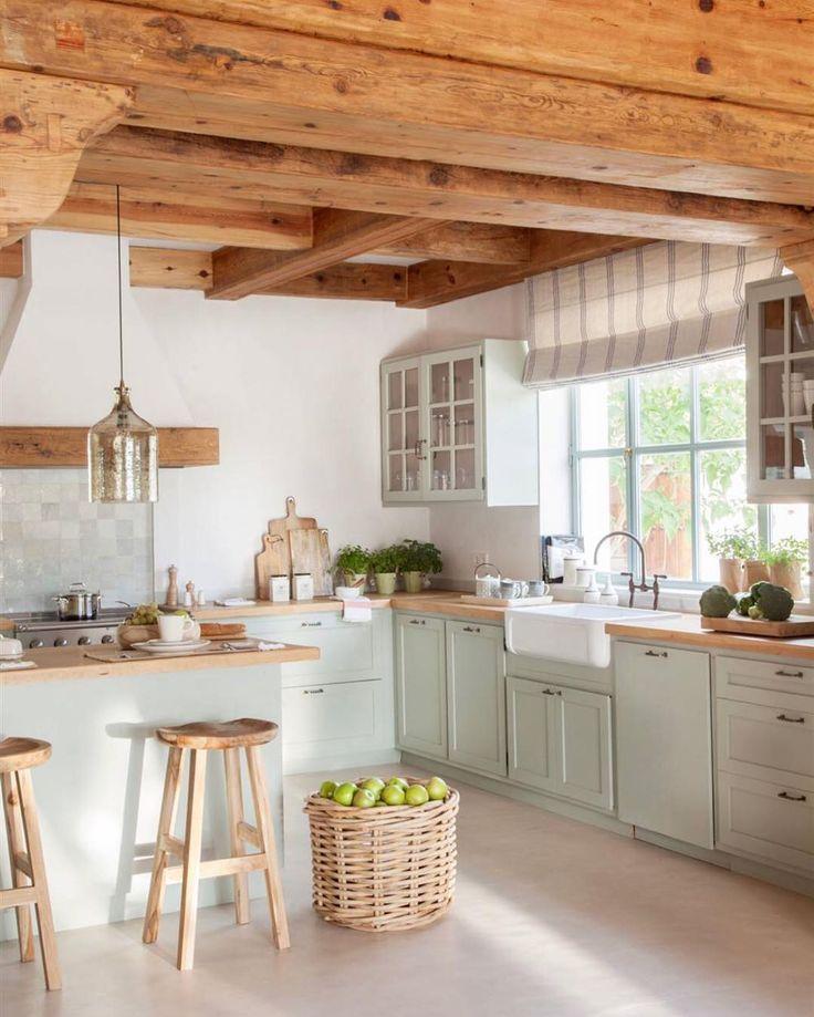 Photo of Bild könnte enthalten: Küche und Innenbereich,  #Bild #enthalten #esszimmerideenlandhaus #Inn…