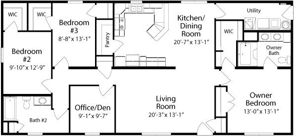 Albany Floorplan Of Classic Collection Modular Home All American Homes House Floor Plans Floor Plans Floor Plans Ranch