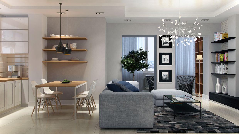 Tipps zum dekorieren eines minimalistischen apartment design
