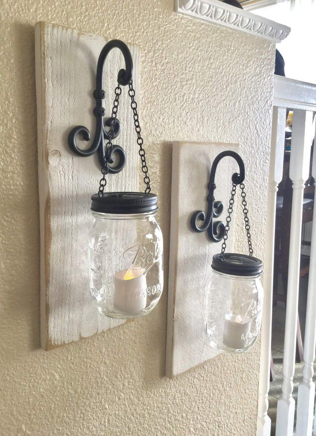 Etsy farmhouse decor mason jar wall affiliate also deco maison rh pinterest