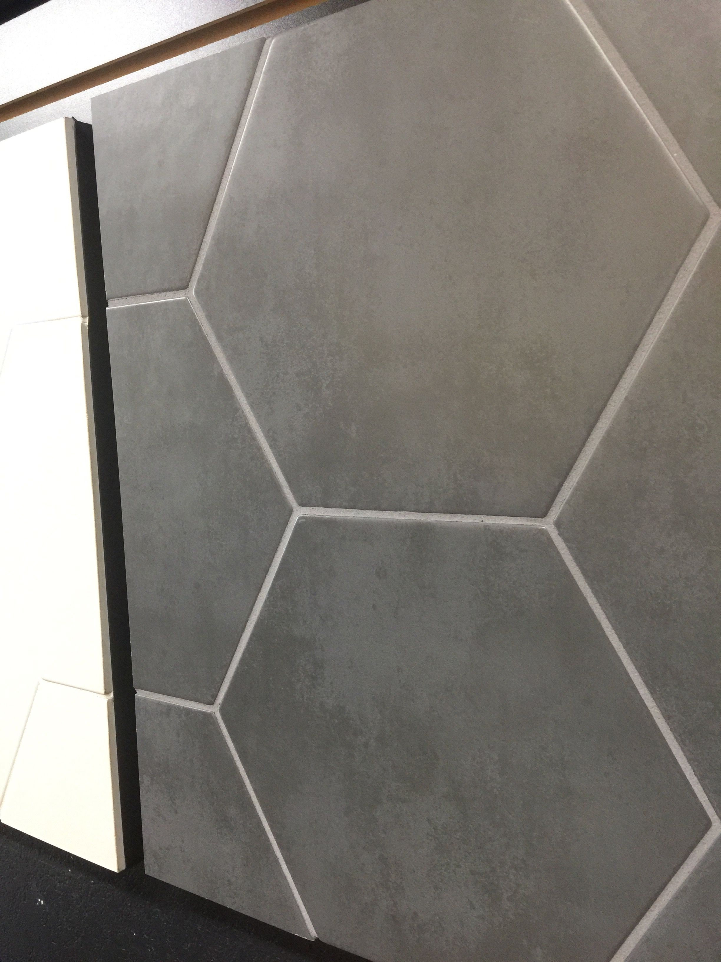 Large Format Hexagon Floor Tile In A Burnished Metal Look And Matte Finish For Hall Bath Floor Large Hexagon Floor Tile Hexagon Tile Floor Tile Floor