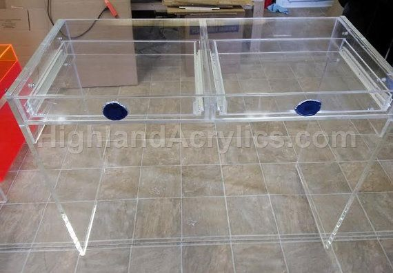 Acrylic Lucite Clear Desk With Drawers And By Highlandacrylics