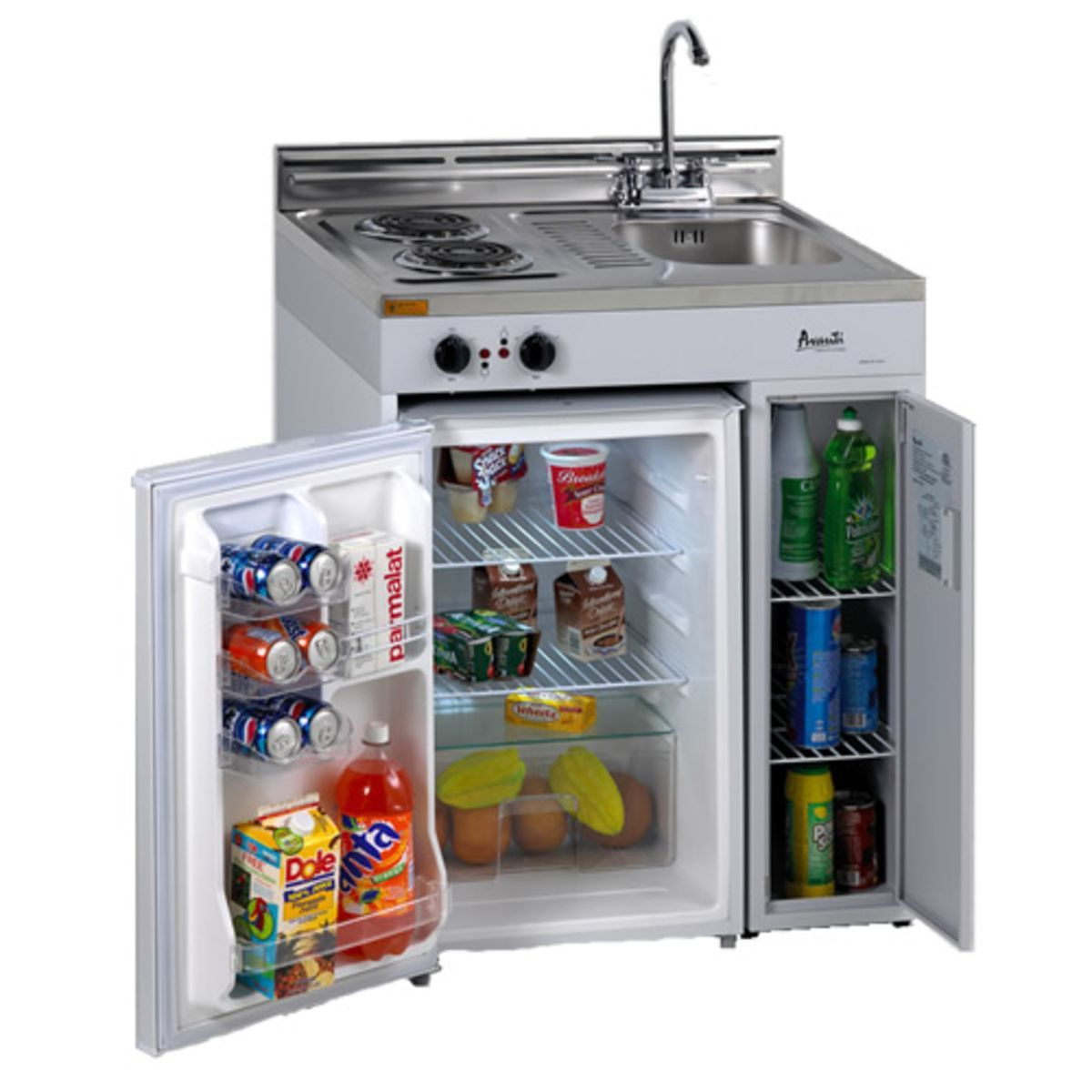 Avanti 30 Inch Complete Compact Kitchen with Refrigerator