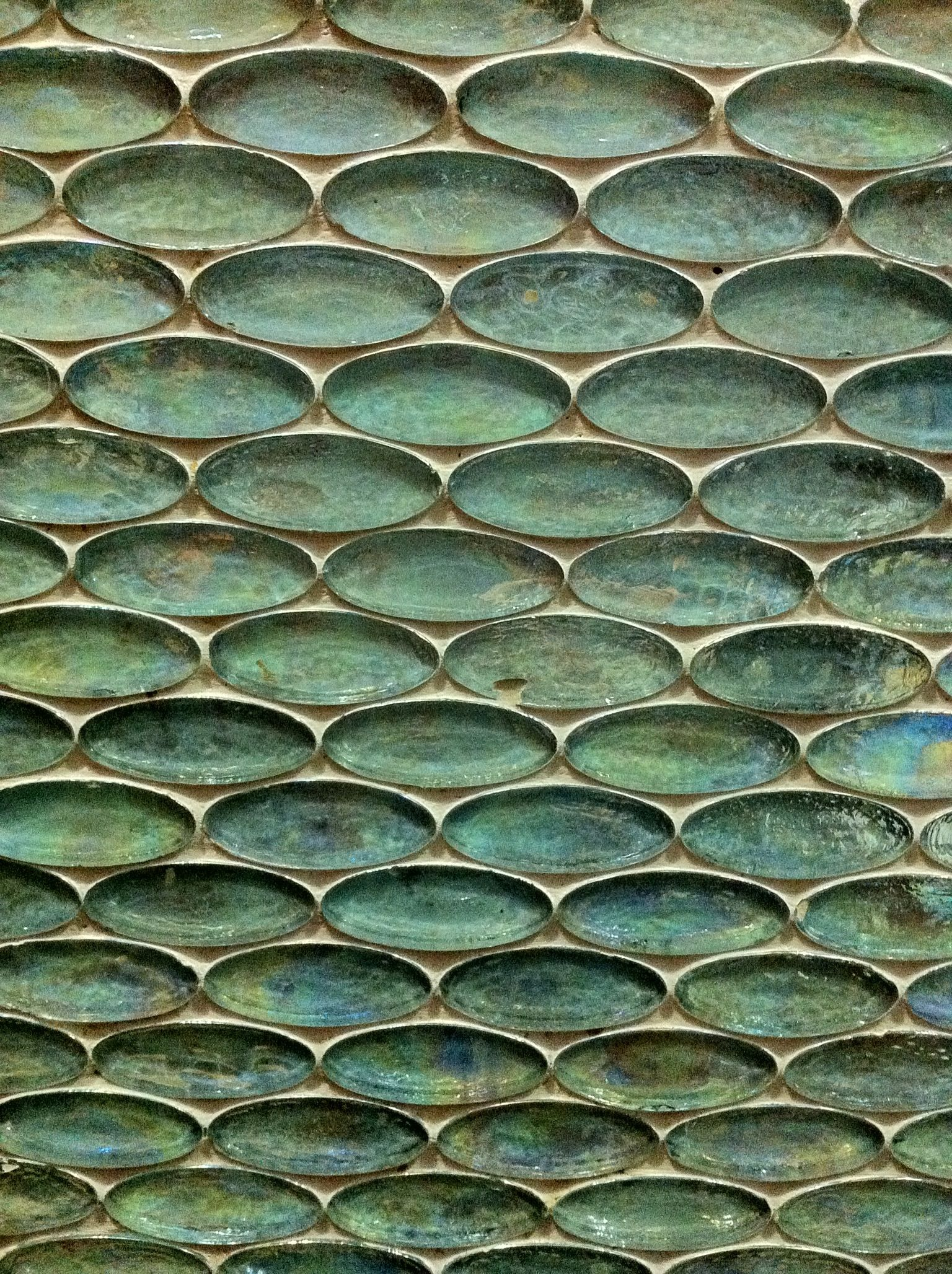 Elliptical Tiles The Colour Of Patinated Copper By I Wish