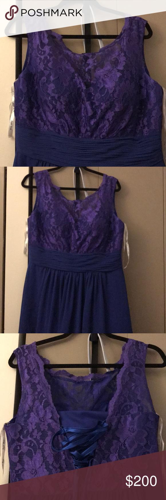 Long bluedark purple bridesmaid dress dark purple and dark