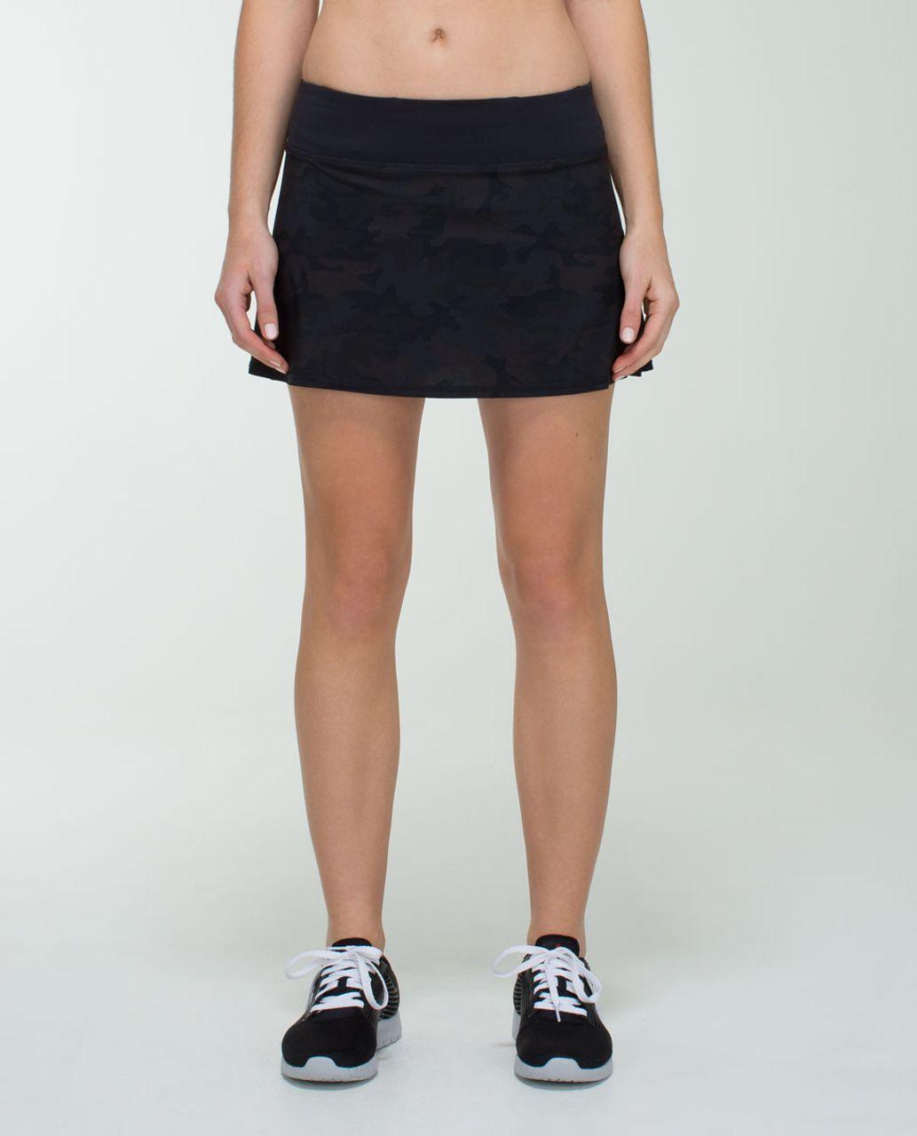 897b7a756 Lululemon Run: Pace Setter Skirt (Regular) *4-way StretchSavasana Camo 20cm  New Black / Black