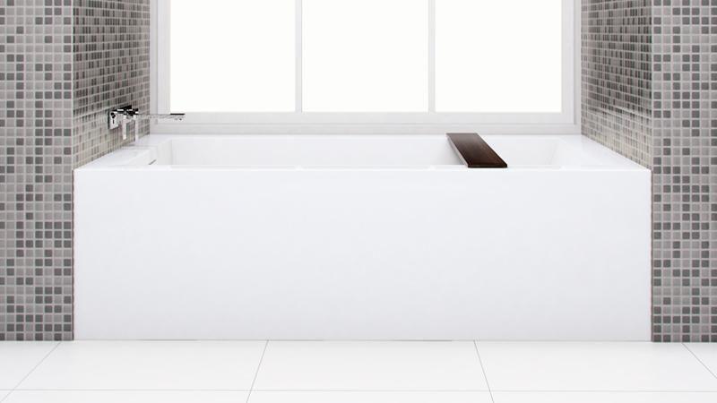 If We Dont Do The Tiled Version Flat Front Is Important Bc 12 Tub Shower Wetstyle Bathtub Custom Bathroom Bathtub Shower