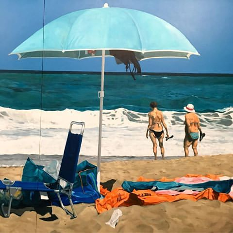 Michael Kvium Beach Of Plenty Detail 2017 Billeder Kunst