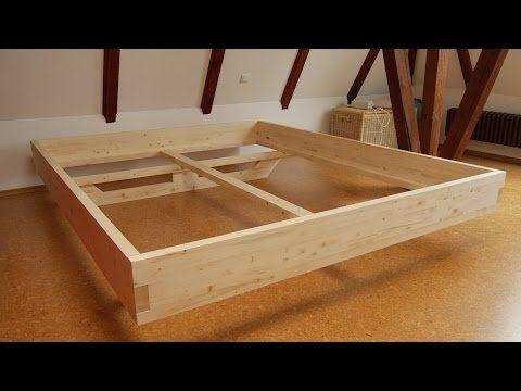 Stauraumbett 140x200 massivholz  DIY Massivholz-Bett selber bauen | Inspiration - Bett | Pinterest ...