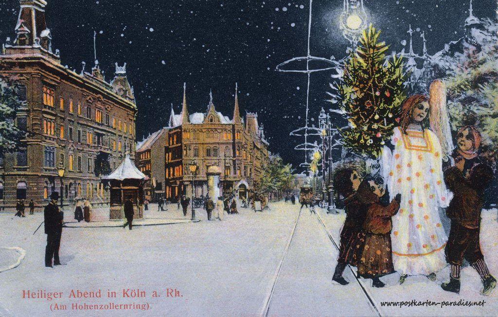 Weihnachtskarten Aus Koln 1900 Alte Postkarten Weihnachtskarten Postkarten Karten