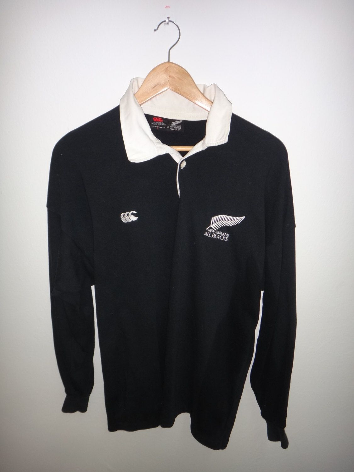 132cd87e6d8 25 Vintage Canterbury Of New Zealand Rugby Union All Black Original Shirt -  $56.25 USD