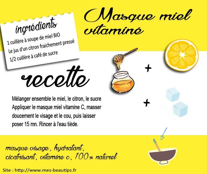Masque miel vitamine c un masque maison pour le visage for Anti rides maison