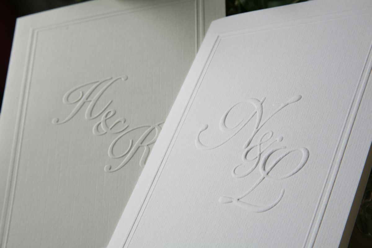 White Embossed Wedding Invitations Uk Invitationsweddorg