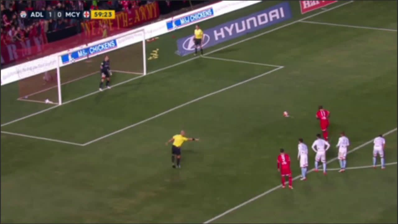 Bruce Djite 2 - Adelaide United vs Melbourne City