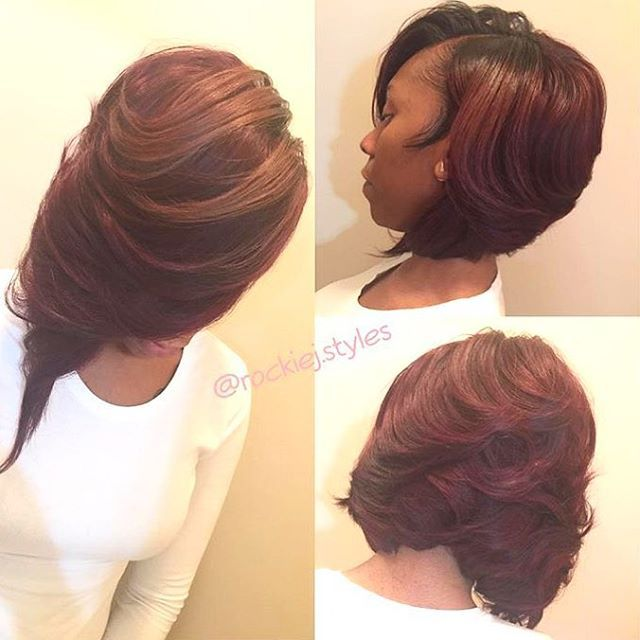 STYLIST FEATURE| Love this layered #bob ✂️ styled by #ChicagoStylist @rockiej.styles❤️ Love the color and cut #voiceofhair ========================= Go to VoiceOfHair.com ========================= Find hairstyles and hair tips! =========================