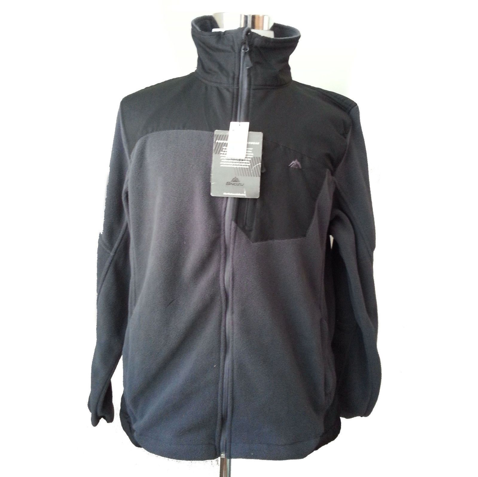 Ebay fixboatquick snozu men size l black fleece jacket full zip new