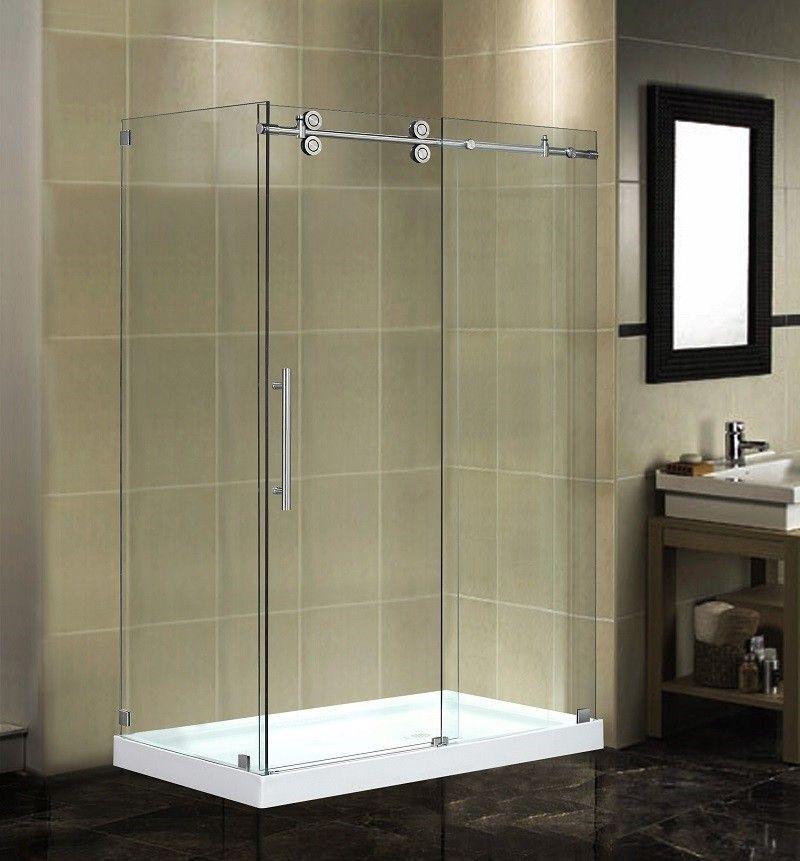 48 X 35 X 77 5 Completely Frameless Sliding Shower Door