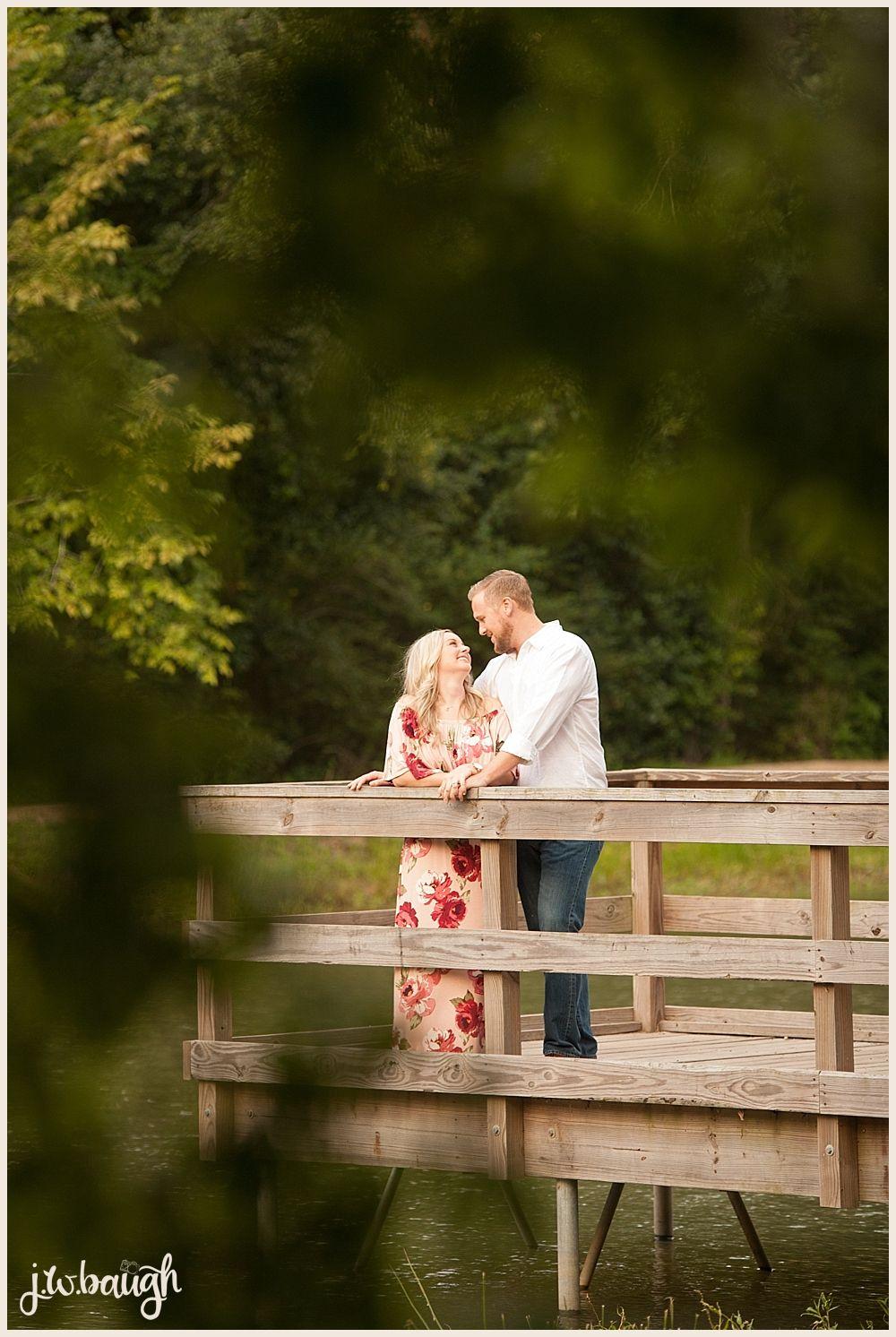 Lake engagement session, candid engagement photo, engagement portraits, floral dress, The Woodlands Engagement Session