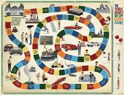 Bueller...Bueller...Bueller...Bueller......Maxim Dalton's Ferris Bueller's Day Off Board Game Print