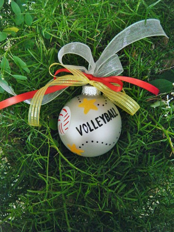 Volleyball Ornament - Personalized Christmas Ornament - Hand Painted ...